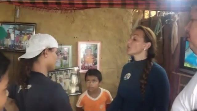 NO FLAGRA Trecho da gravação do momento em que Cristiane Damião ameaça uma família em troca de votos foi ar no programa Fantástico. Foto: Youtube
