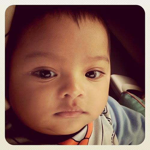 Baby Asyraf on da way balik kampung