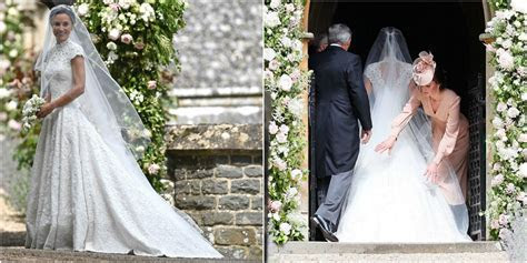 Pippa Middleton's Wedding Dress Was a Lace Cap Sleeved