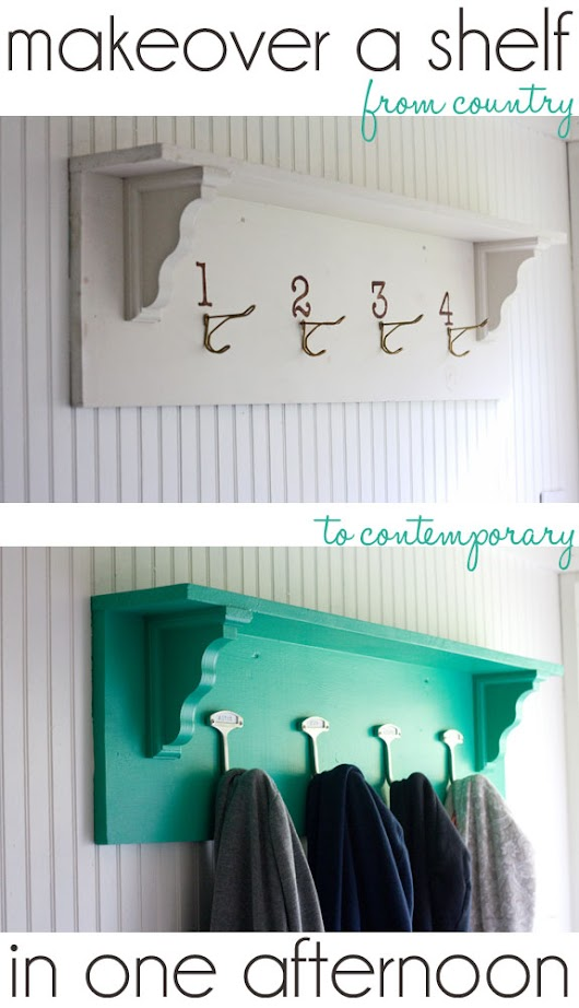 Makeover a shelf in an afternoon - The Shabby Creek Cottage