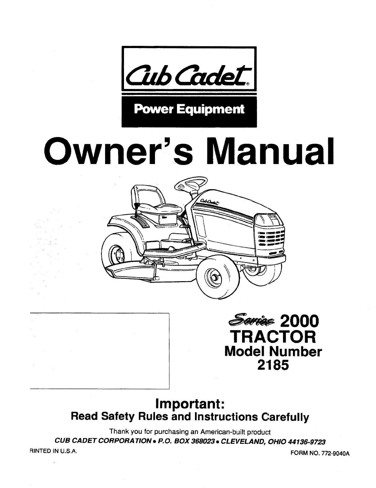 [DIAGRAM] 7260 Cub Cadet Wiring Diagram For Tractor FULL
