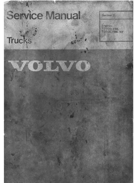 VolvoTD70 Service Manual Engine | Piston | Internal