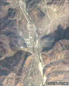 Satellite image of Yodok prison camp taken on 7 April 2011 (Image: Amnesty International/Digital Globe)
