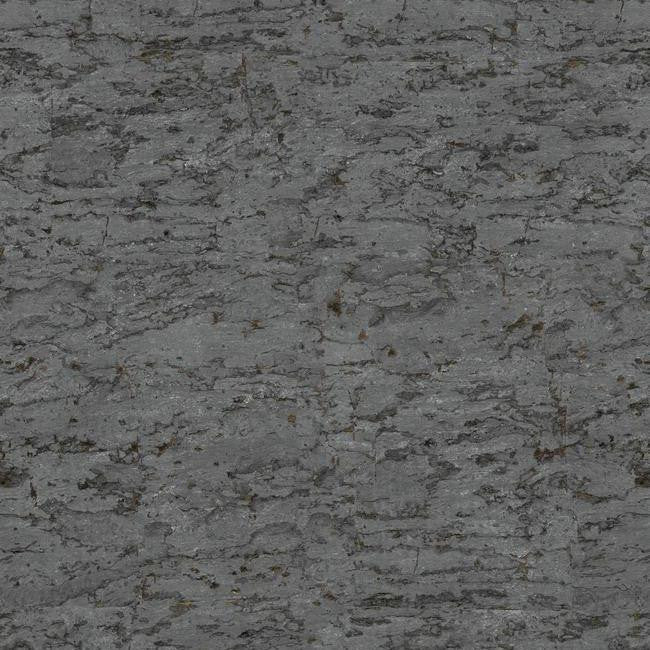 Faux Cork Wallpaper in Charcoal and Metallic by York Wallcoverings \u2013 BURKE DECOR