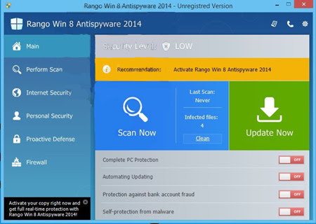 Riddled with Rango Win 8 Antispyware, How to Remove Fake Anti-virus Program