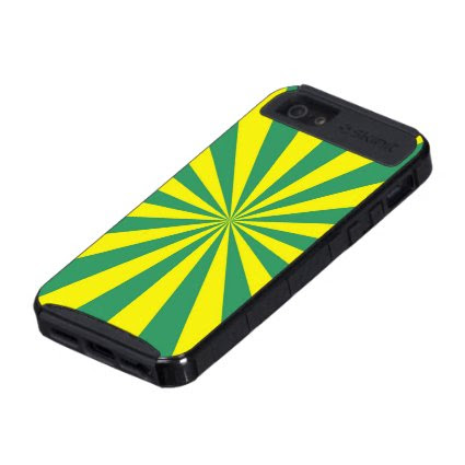 Sunbeams in Green and Yellow iPhone 5 Case