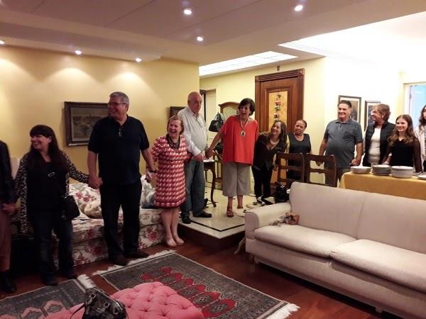 Família Proença recebe nosso conterrâneo em São Paulo