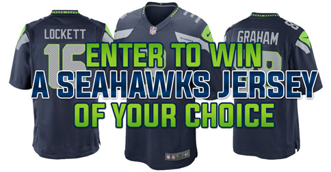 Enter to win a FREE Seattle Seahawks Jersey!