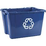 Rubbermaid - Trash can - 14 gal - handles - linear low-density polyethylene (LLDPE) - blue