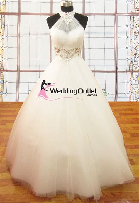 Ariana Halter Neck Princess Dresses   Weddingfactoryoutlet