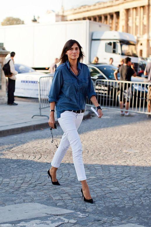 30 Le Fashion Blog 30 Fresh Ways To Wear White Jeans Emmanuelle Alt Chambray Button Down Shirt Via Stockholm Streetstyle photo 30-Le-Fashion-Blog-30-Fresh-Ways-To-Wear-White-Jeans-Emmanuelle-Alt-Chambray-Button-Down-Shirt-Via-Stockholm-Streetstyle.jpg