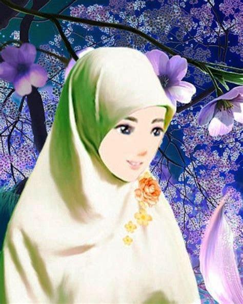 pin oleh hani hyung  kartun kartun muslim  wanita