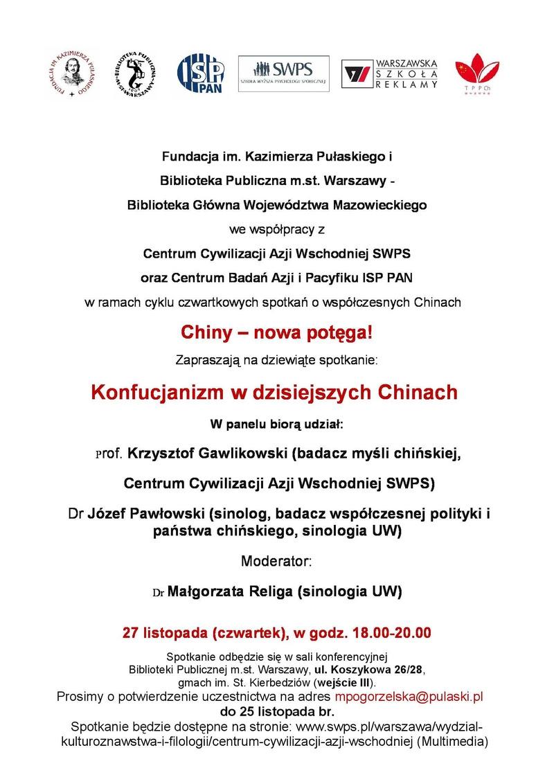 Instytut Konfucjusza Uniwersytetu Im Adama Mickiewicza W Poznaniu