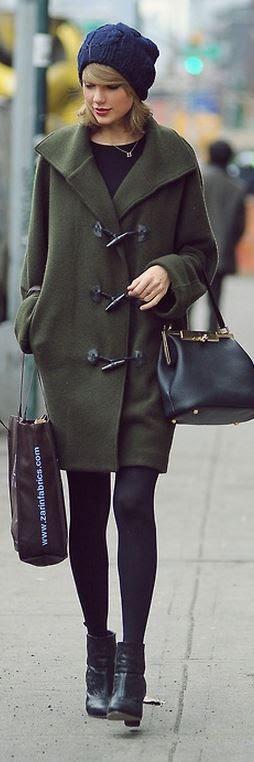 Taylor's olive toggle coat