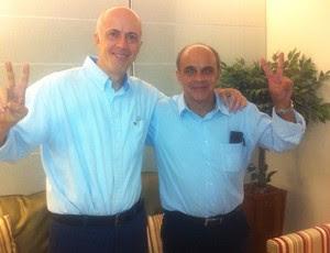 Wallim Vasconcellos e novo candidato da chapa azul no Flamengo, Eduardo Bandeira de Mello (Foto: Divulgação)