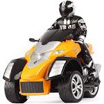 4WD Off-Road 3-Wheel Drifting Stunt RC Motorcycle   Orange