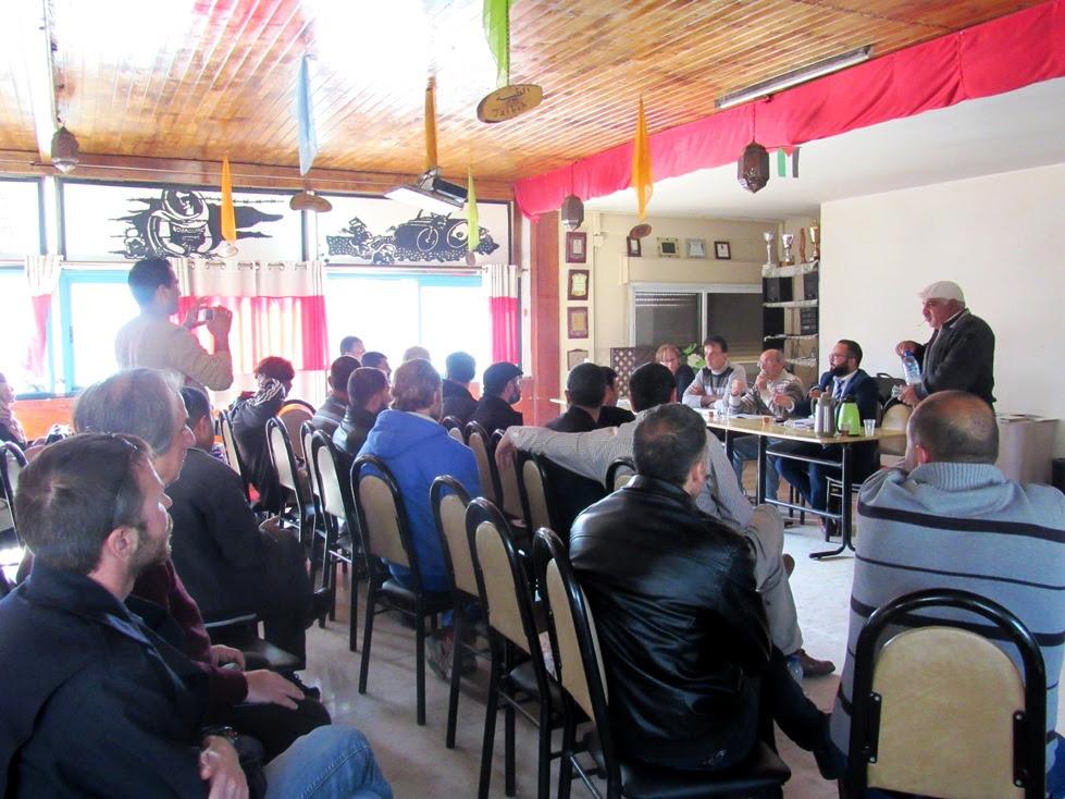 Il meeting degli insegnanti a Ibdaa, nel campo profughi di Dheisheh (Foto: Chiara Cruciati/Nena News)