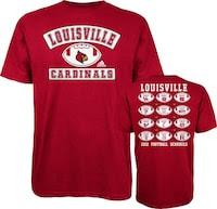 adidas Louisville Cardinals Red 2012 Football Schedule T-Shirt
