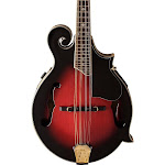Washburn M3SWETWRK F-Style Acoustic Electric Mandolin Trans Wine Red