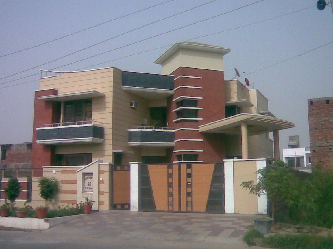 Front Elevation Boundary : Front boundary wall design of house interior