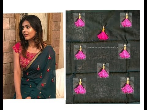 how to make saree at home