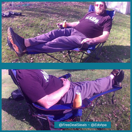 Reclining Camp Chair w/ Pillow & Footrest ~ #RORAIMA ~ Freebies Deals & Steals