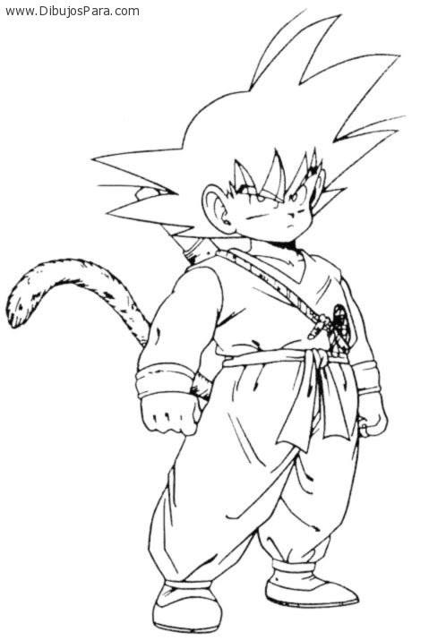 Dibujo De Gohan Goku Dibujos Para Colorear
