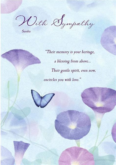 Deepest Sympathy Messages   sympathy card butterfly