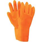 Magid Glove 714TL Orange Flock Lined Stripping Latex Glove Large