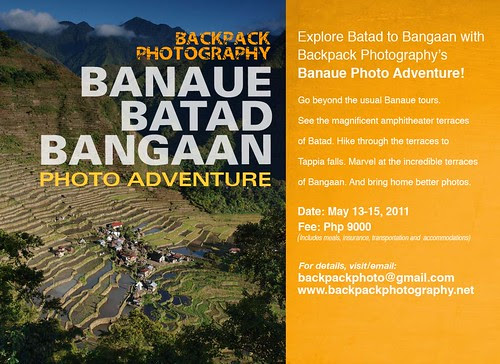 Backpack Photography Banaue Photo Adventure