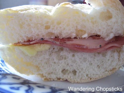 Butter, Cream Cheese, Italian Meat Trio Sandwich 1