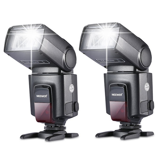 Neewer 2 Pieces TT560 Flash Speedlite for Canon Nikon Fujifilm Pentax Sigma Minolta Leica with Single-contact Hot Shoe - DynaGrace Enterprises