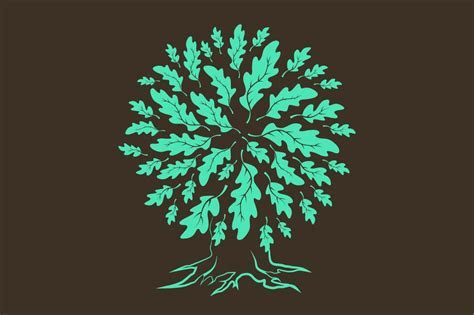 Vector oak tree silhouette ~ Graphic Objects ~ Creative Market