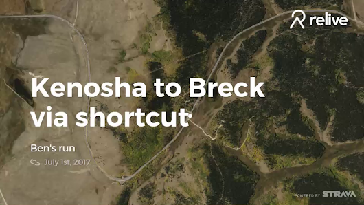 Relive 'Kenosha to Breck via shortcut'