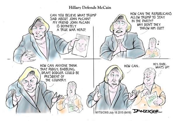 Image result for hillary vs trump cartoons