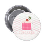 Cupcakes & Polka Dots Button