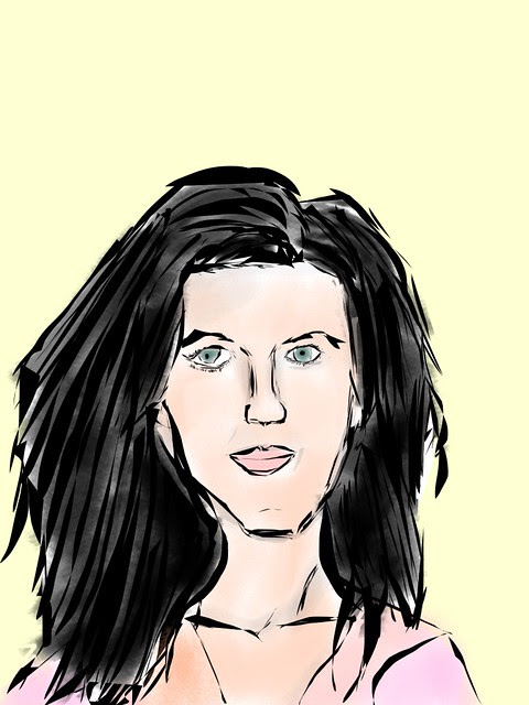 Katy Perry drawing from photo