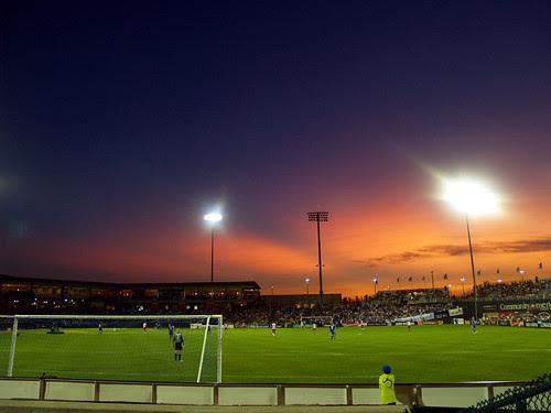 Sunset over Community America Ballpark