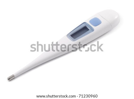 Medical thermometer - stock photo