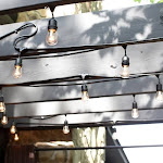 Bulbrite Dimmable String Light Kit in Black with 15 Sockets, Black, 11W