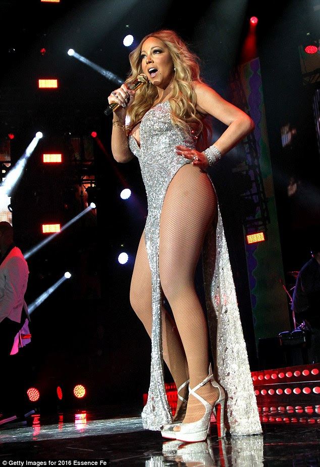 Attitude: On Saturday evening Mariah Carey appeared at the Essence Festival in New Orelans, debuting two new outfits that showed off her enviable form
