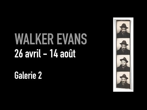 Walker Evans, 26 avril-14 aoüt, centre Pompidou.