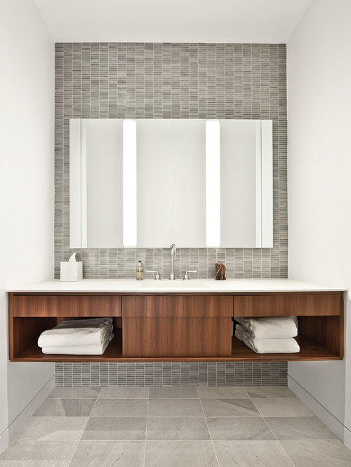 Matching Tile And Vanity Home Design Ideas, Pictures, Remodel and Decor