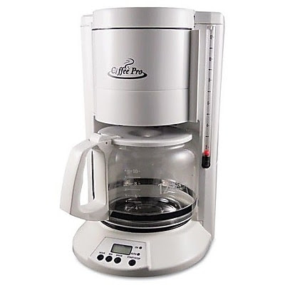 OriginalGourmetFoodCo Coffee Pro Home/Office 12 Cup Coffee Maker; White