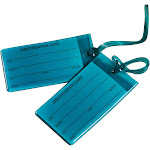 Conair Travel Smart Jelly Luggage Tag, Teal - 2 pack