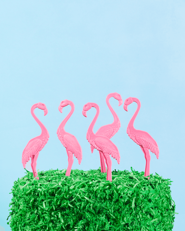 Flamingo Lawn Cake | Oh Happy Day!