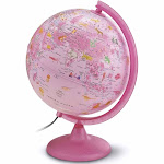 Safari Explorer Animals Globe (pink)
