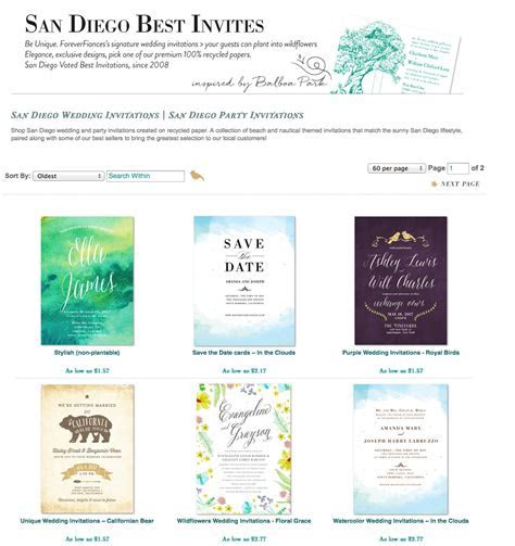 For Ever: Finding the Best San Diego Invitations