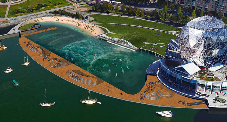 CitySurf: the man-made wave project will filter the local waters