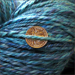 Deep Blue Sea yarn, close up